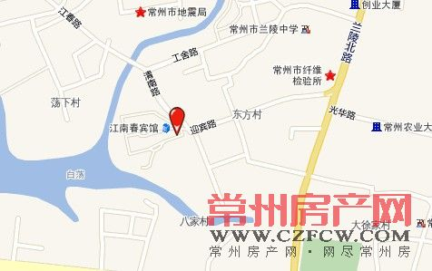 光华路美食街位置图