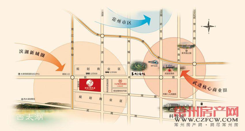 九洲金东方花园位置图