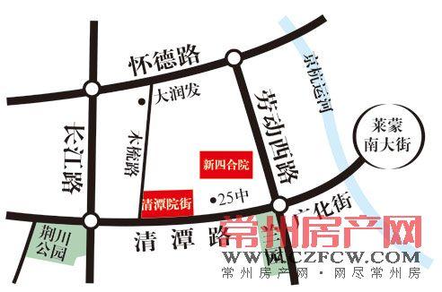 清潭院街位置图