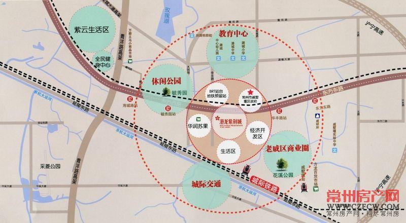 港龙紫荆城位置图