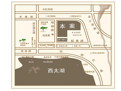 绿地香奈位置图