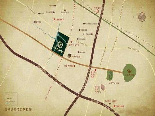 九龙仓凤凰湖墅位置图