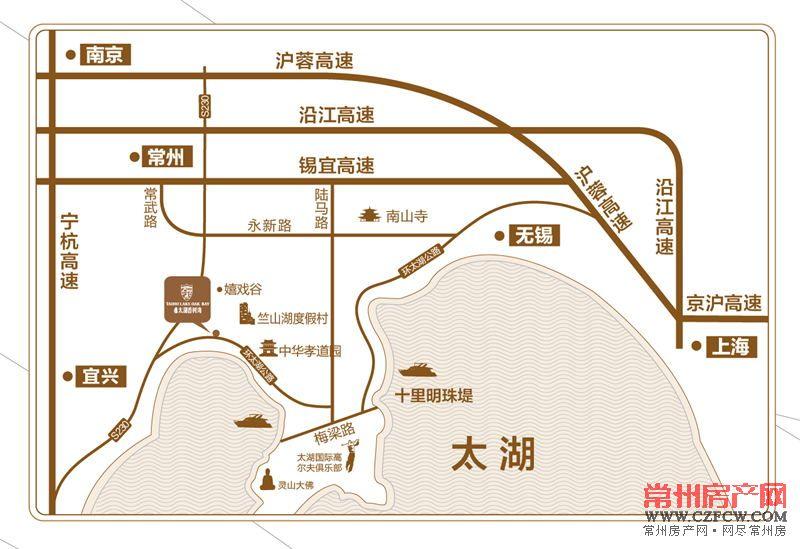 太湖香树湾位置图