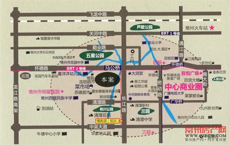 百大康桥位置图