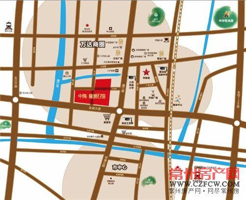 中海��城公馆位置图