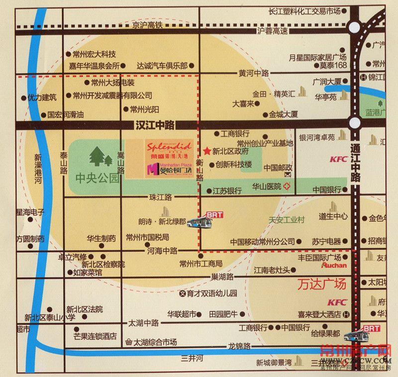 荣盛曼哈顿广场位置图