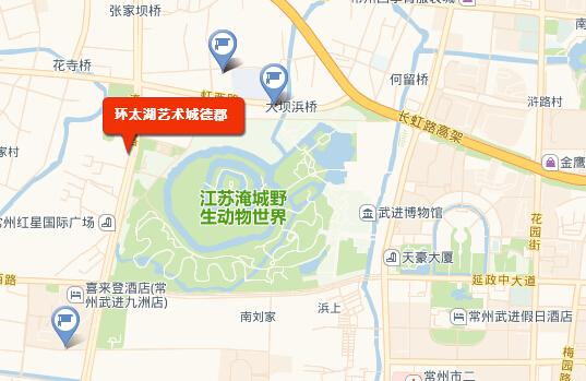 环太湖艺术城・习园位置图
