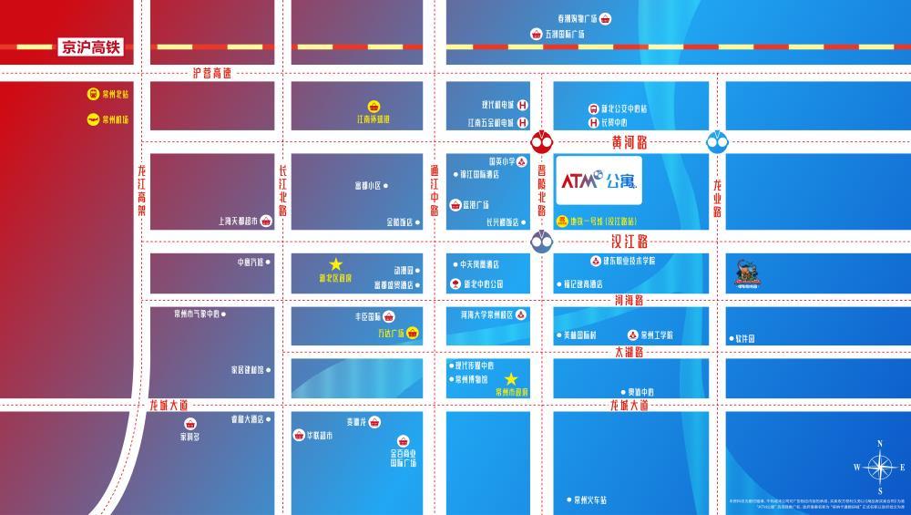 ATM公寓位置图
