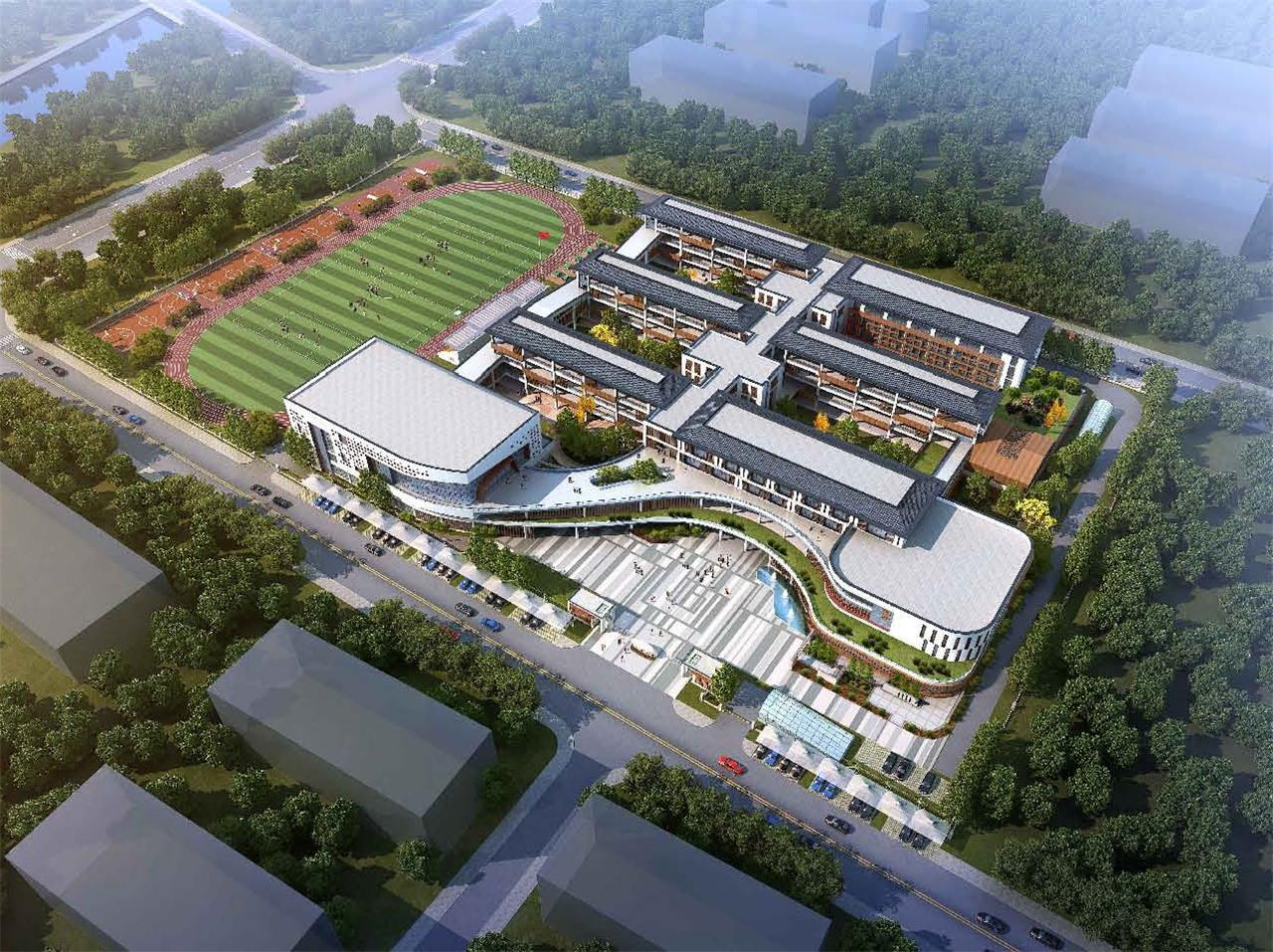 新北盘龙小学总投资约1.8亿 拟招生规模8轨48班