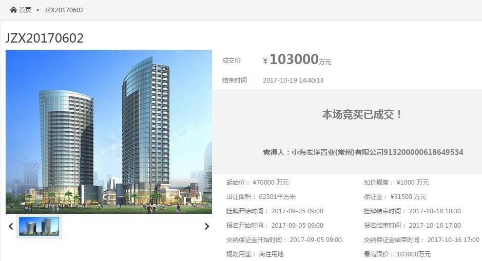 10.3亿+1200�O人才公寓!中海夺得泰和之春北侧地块
