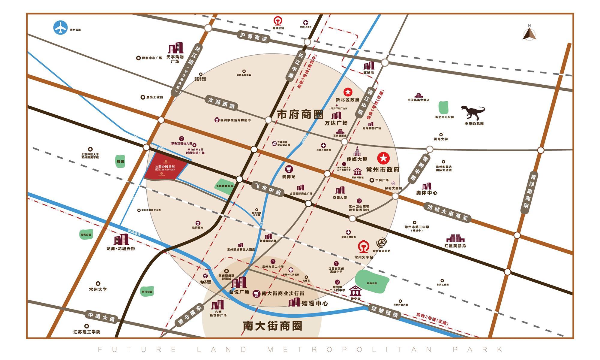 新城牡丹・公园世纪位置图