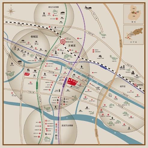 龙运天城位置图