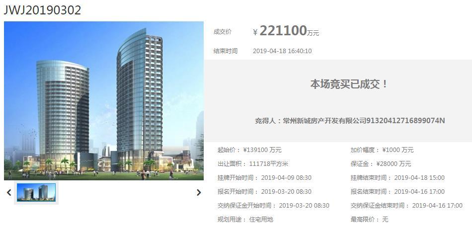 加价8.2亿!新城地产豪取鸣凰万科东侧地块 楼面价8996元/�O