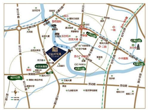 绿地运河天地X-mall位置图