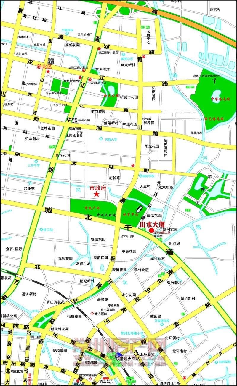 山水大厦位置图