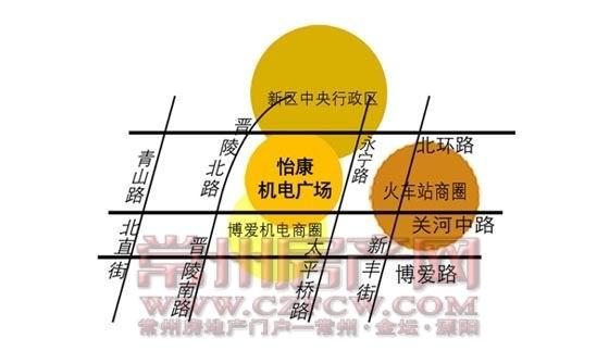 怡康五金机电市场位置图
