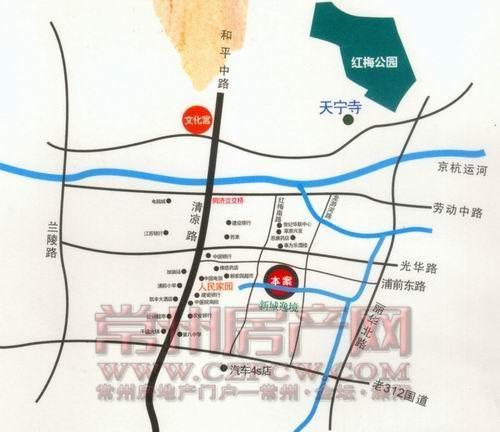 新城逸境位置图