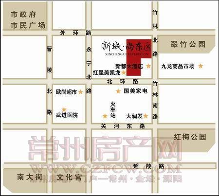 新城尚东区位置图