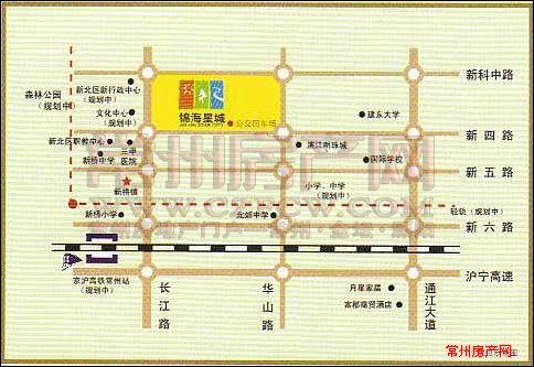 锦海星城位置图