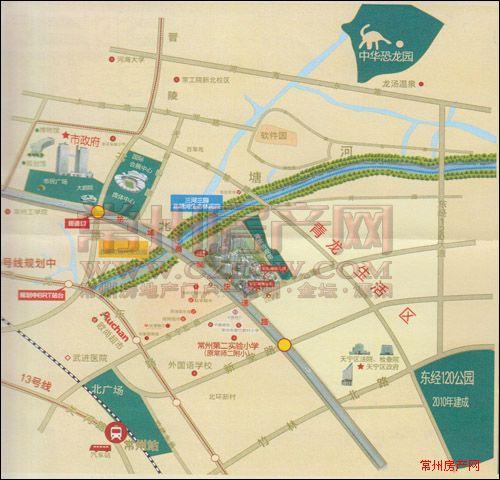 彩虹城位置图