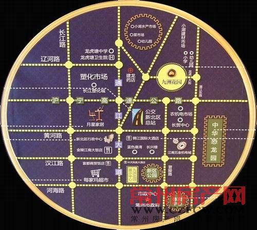 九洲花园位置图