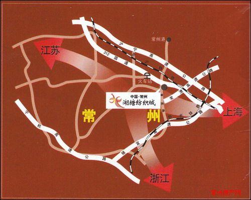 中国湖塘纺织城位置图