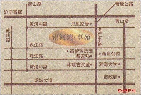 银河湾卓苑位置图