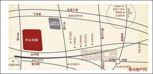 天山花园位置图