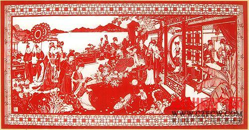 金坛刻纸的工艺主要由手工绘画和镂空刻制组成