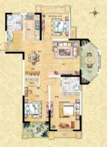 3室2厅2卫1厨AB1型