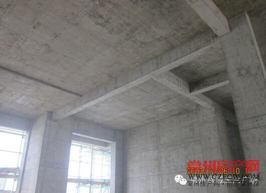 主体结构混凝土浇筑成型质量观感较好