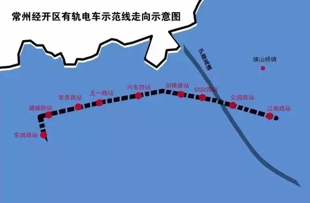 有轨电车t1线一期路线图